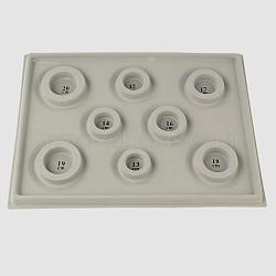 Panneaux en plastique de conception de perles, darkgray, 347x260x18mm(TOOL-E004-02)