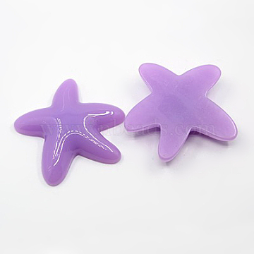 57mm Purple Starfish Acrylic Cabochons