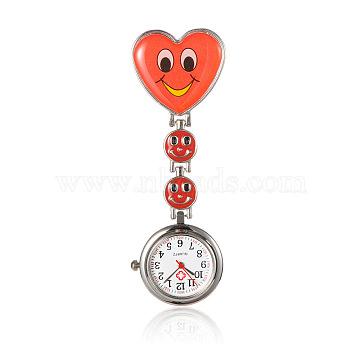 Red Alloy Quartz Watch