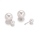 Double Sided Acrylic Pearl Ball Stud Earrings(X-EJEW-E182-C01)-1