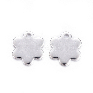 Silver Flower Stainless Steel Charms