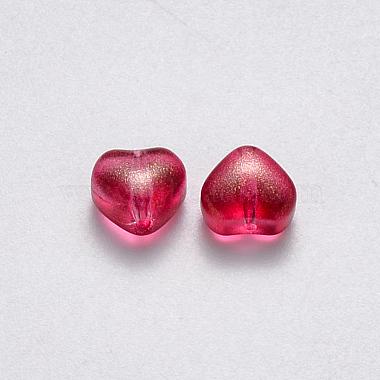 Transparent Spray Painted Glass Beads(X-GLAA-R211-02-B07)-2