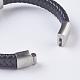 Men's Braided Leather Cord Bracelets(BJEW-P194-17B)-2