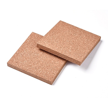 Cork Insulation Sheets, with Square, for Coaster, Wall Decoration, Party and DIY Crafts Supplies, BurlyWood, 15.05x15.05x1.53cm(X-AJEW-WH0109-67)