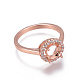 Environmental Brass Finger Ring Components(MAK-F030-12-NR)-3