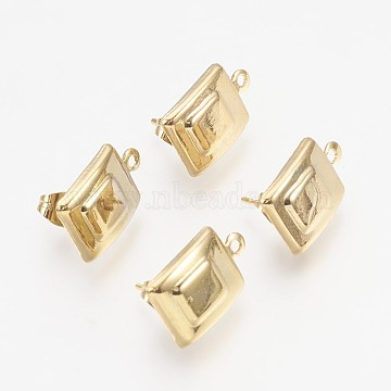 Light Gold Stainless Steel Stud Earrings