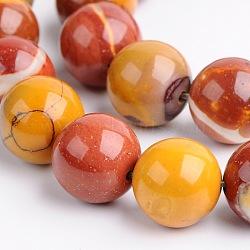 """Mookaite naturel chapelets de perles rondes, 12mm, trou: 1.5mm; environ 33 pcs/chapelet, 15.3""""(G-M280-16-12mm)"""