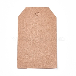 Paper Price Tags, Hang Tags, for Jewelry Display, Arts and Crafts, Wedding Christmas, BurlyWood, 50x30x0.3mm, Hole: 3mm(CDIS-E009-05A)