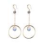 Purple Brass Earrings(EJEW-JE03772-01)