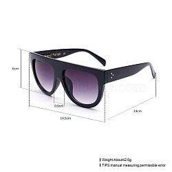 новые женские дамы моды женские солнцезащитные очки, пластиковые рамы и поликарбонатные линзы, серый, 14.5x6 cm(SG-BB22813-2)