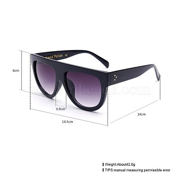 New Fashion Ladies Summer Sunglasses, Plastic Frames and Polycarbonate Lens, Gray, 14.5x6cm(SG-BB22813-2)