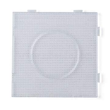 Pegboards for 3x2.5mm Mini Fuse Beads, Clear, 140x140x7.5mm(X-DIY-Q009-09)
