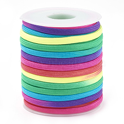 Acrylic Fiber Cords, Colorful, 4mm; about 15yards/roll(OCOR-Q047-01)
