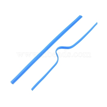 PE Nose Bridge Wire for Mouth Cover, with Galvanized Iron Wire Single Core Inside, DIY Disposable Mouth Cover Material, Blue, 8cm(3.14 inches) ; 4mm wide(X-AJEW-E034-59B-01)