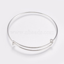 "Alliage fabrication de bracelets, platine, 2-1/2"" (65 mm)(MAK-P008-01A)"