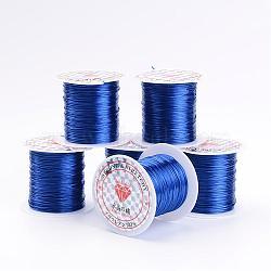 Étirer perles élastique chaîne de fil, mediumblue, 1mm, 10m/rouleau(X-EW-S002-02)