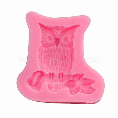 Cute Owl Design DIY Food Grade Silicone Molds(AJEW-L054-24)-2