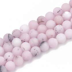 """Chapelets de perles de fleur de cerisier en jaspe naturel, mat, rond, 6mm, trou: 1mm; environ 63 pcs/chapelet, 15.5""""(G-T106-275)"""
