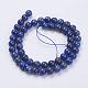 Natural Lapis Lazuli(Filled Color Glue) Beads Strands(X-G-K269-01-8mm)-2