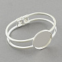 Brass Bangle Making, Blank Bangle Base, Silver Color Plated, 60mm; tray: 25mm
