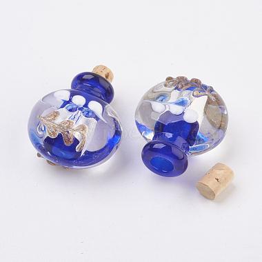 Pendentifs de bouteille de parfum au Lampwork argenté manuels(FOIL-P001-A)-3