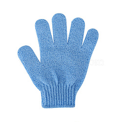 Nylon Scrub Gloves, Exfoliating Gloves, for Shower, Spa and Body Scrubs, CornflowerBlue, 185x150mm(MRMJ-Q013-178E)