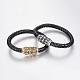 Braided Leather Cord Bracelets(BJEW-H562-02)-1