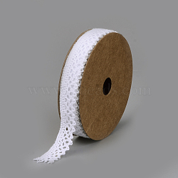 Cotton Ribbons, White, 5/8inch(15mm); about 2yards/roll(1.829m/roll)(SRIB-Q018-13B)
