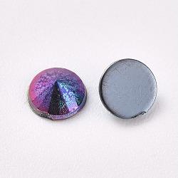 acrylique strass dos plat, ab couleur, cône, coloré, 4.5x2.5 mm; sur 100 PCs / sac(OACR-WH0003-05A-06)