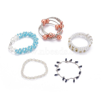 Mixed Color Glass Bracelets
