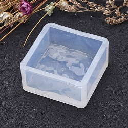 Moules en silicone bricolage en forme carrée, moules de résine, pour la résine UV, fabrication de bijoux en résine époxy, clair, 36x36x17mm(AJEW-P036-02)