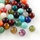 Round Imitation Gemstone Acrylic Beads(X-OACR-R029-6mm-M)-1