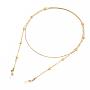 Golden Brass Eyeglass Chains(X-AJEW-EH00104-02)