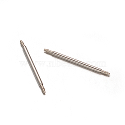 Stainless Steel Double Flanged Spring Bar Watch Strap Pins, Stainless Steel Color, 25x1.2mm(STAS-M231-07)