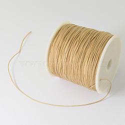 Fil de nylon tressé, burlywood, 0.5 mm; environ 150 mètres / rouleau (450 pieds / rouleau)(NWIR-R006-0.5mm-062)
