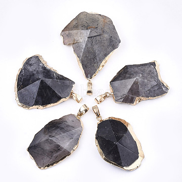 Golden Nuggets Tourmalinated Quartz Pendants
