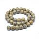 Ronds de perles de pierres précieuses de jaspe de peau jaune léopard naturel(G-J302-12-8mm)-3