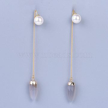 Natural Agate Stud Earrings