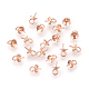 925 Sterling Silver Cup Pearl Bail Pin Pendants(STER-P045-01RG-6mm)-1