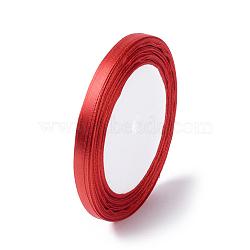 Ruban de satin pour la décoration de partie bricolage hairbow, rouge, 25yards / roll (22.86m / roll)(X-RC6mmY026)