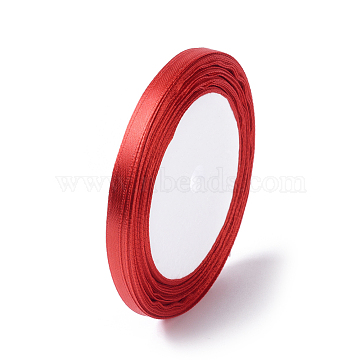 Satin Ribbon for Hairbow DIY Party Decoration, Christmas Ribbon, Red, 25yards/roll(22.86m/roll)(X-RC6mmY026)