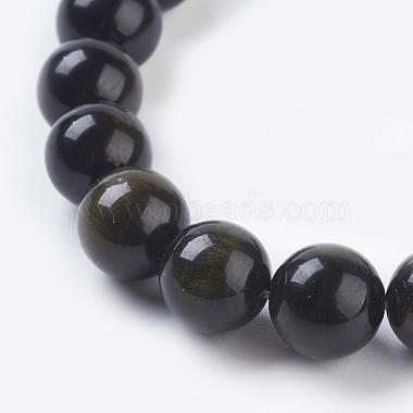 Natural Golden Sheen Obsidian Beads Strands(X-G-C076-10mm-5)-3