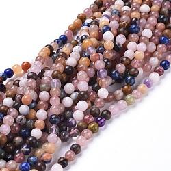 природных драгоценных камней бисер нитей, cmешанные камень, вокруг, 5.8~6.8 mm, отверстия: 0.7 mm, о: 66 шт / прядь, 15 дюймов ~ 15.5 дюймов (38~39 см)