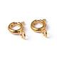Золотые компоненты тон ювелирные изделия латунь кольцо весной пряжки(X-EC095-G)-3