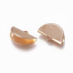 железа концы тесемки, светлое золото, 12.5x20 mm, отверстия: 2x3.5 mm