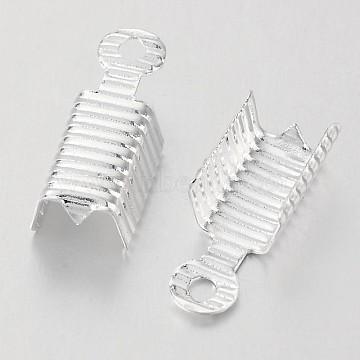 Silver Brass Folding Crimp Ends