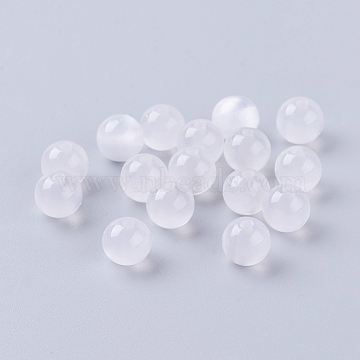 100-200 x 4mm 6mm /& 8mm Shiny Cats Eye Glass Round Beads Craft Jewellery