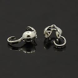 Ton argent caches noeuds de fer, calotte se termine, couverture de noeud à clapet, taille: environ 9 mm de long,  largeur de 3 mm, trou: environ 1.5 mm(X-E038-S)