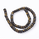 Natural Gemstone Tiger Eye Stone Rondelle Beads Strands(X-G-S105-8mm-20)-2