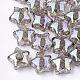 Perles en acrylique transparentes craquelées(TACR-S148-03F)-1